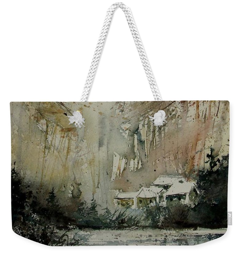 Landscape Weekender Tote Bag featuring the painting Watercolor 070608 by Pol Ledent