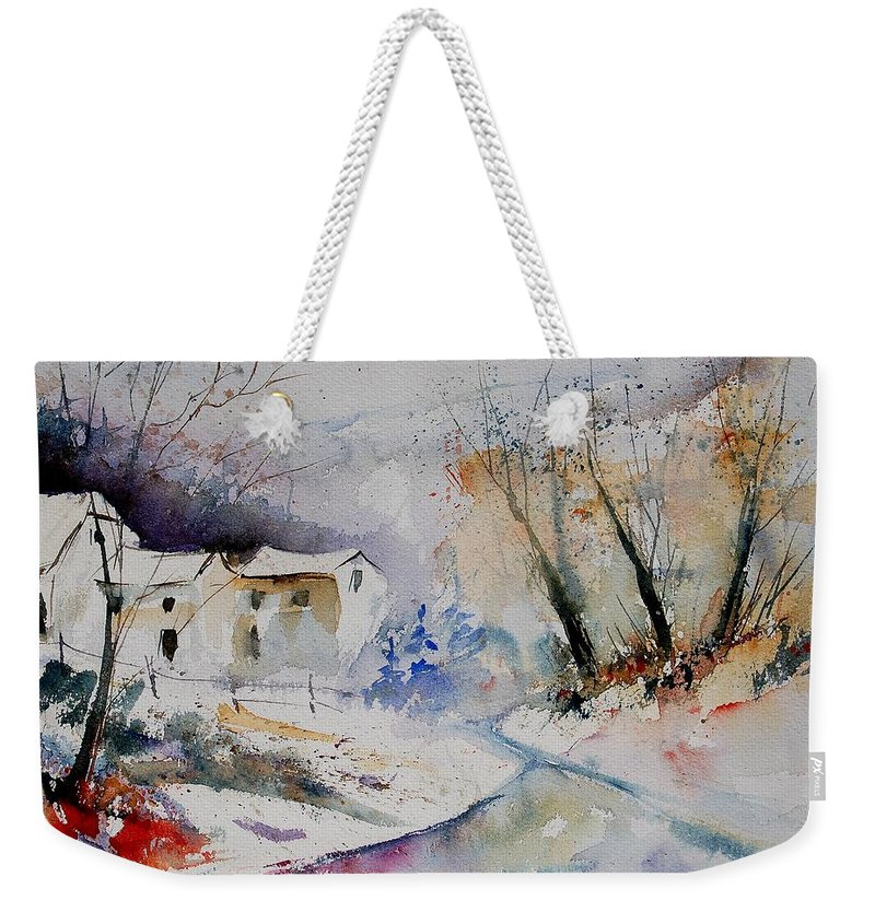 Village Weekender Tote Bag featuring the painting Watercolor 15823 by Pol Ledent