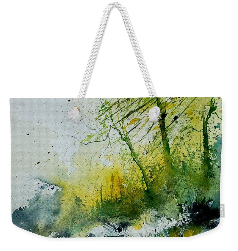 River Weekender Tote Bag featuring the painting Watercolor 181207 by Pol Ledent