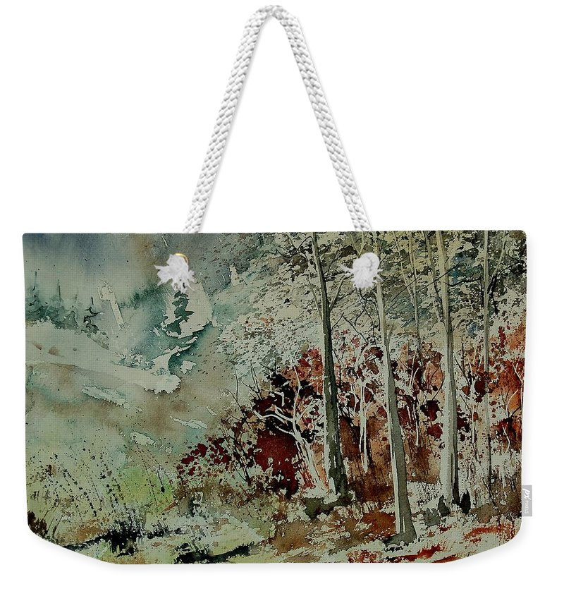 Landscape Weekender Tote Bag featuring the painting Watercolor 200307 by Pol Ledent