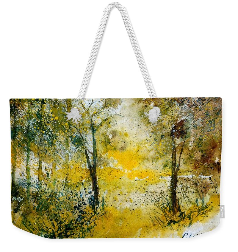 River Weekender Tote Bag featuring the painting Watercolor 210108 by Pol Ledent