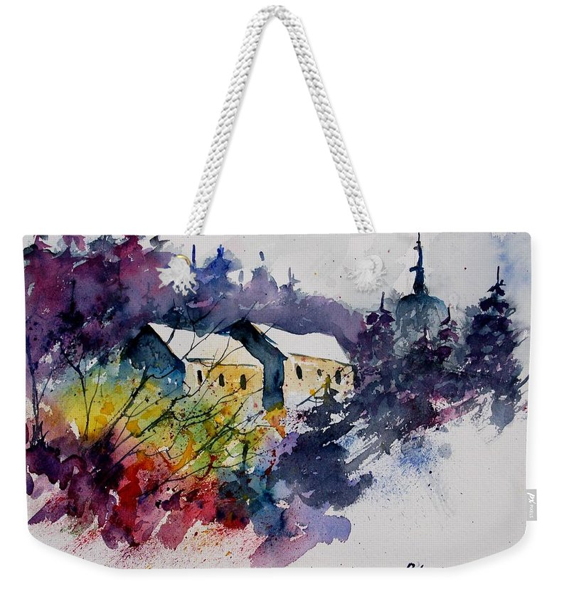 River Weekender Tote Bag featuring the painting Watercolor 231207 by Pol Ledent