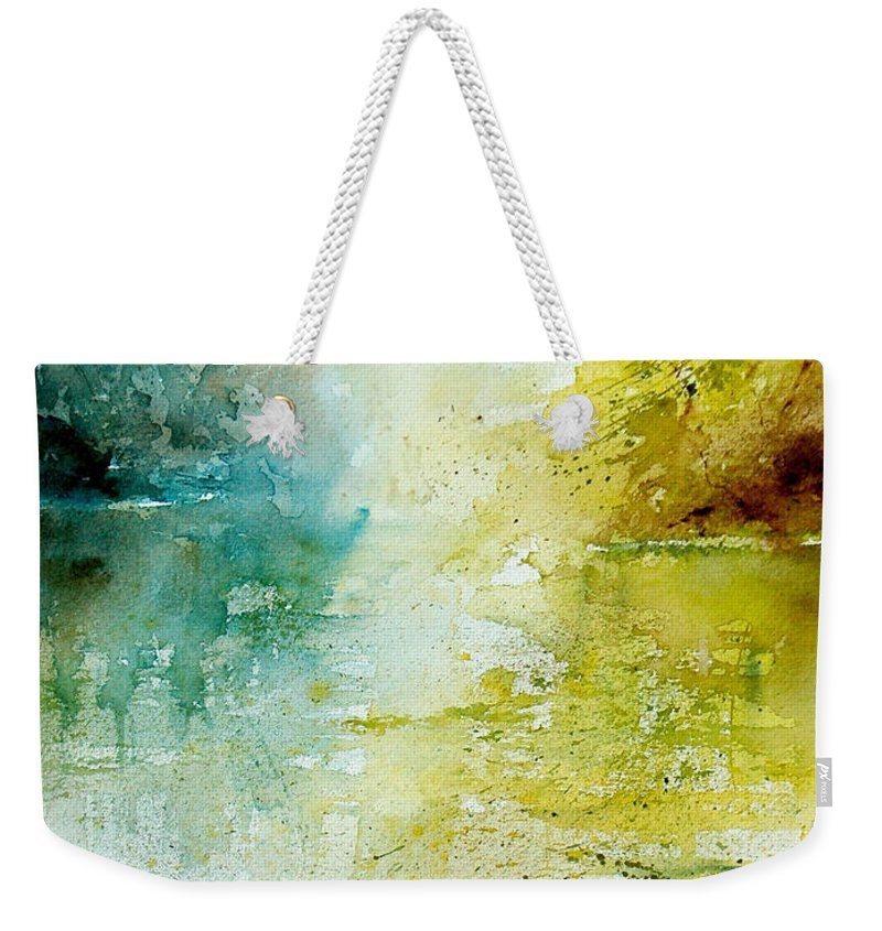 Pond Nature Landscape Weekender Tote Bag featuring the painting Watercolor 24465 by Pol Ledent