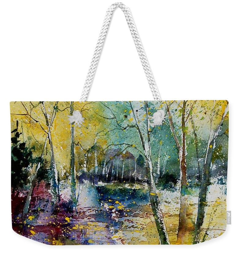 Pond Weekender Tote Bag featuring the painting Watercolor 280809 by Pol Ledent