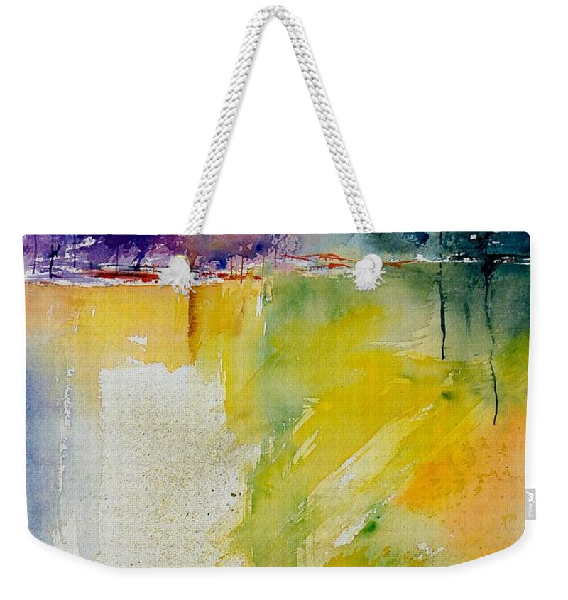 Pond Weekender Tote Bag featuring the painting Watercolor 800142 by Pol Ledent