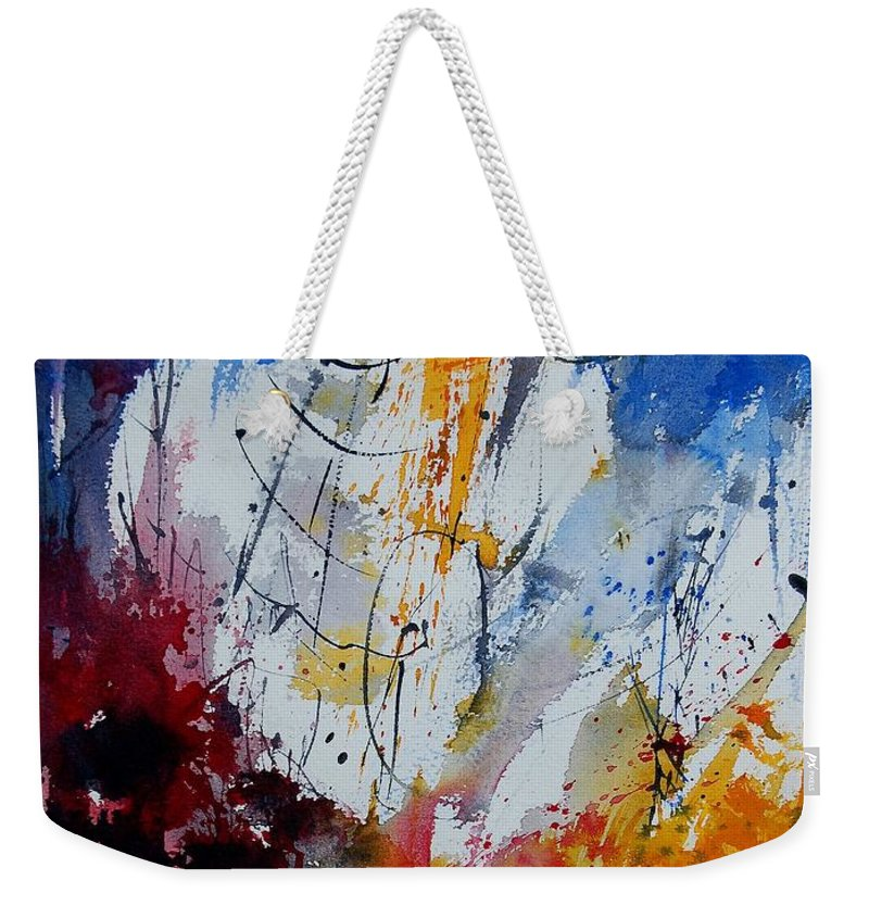 Abstract Weekender Tote Bag featuring the painting Watercolor 901120 by Pol Ledent