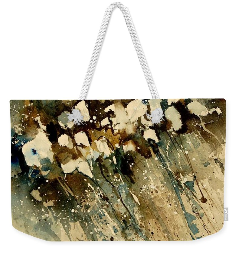 Abstract Weekender Tote Bag featuring the painting Watercolor 901140 by Pol Ledent