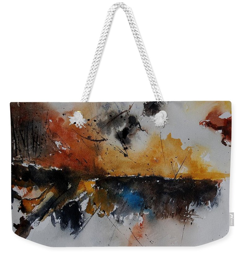 Abstract Weekender Tote Bag featuring the painting Watercolor 901150 by Pol Ledent