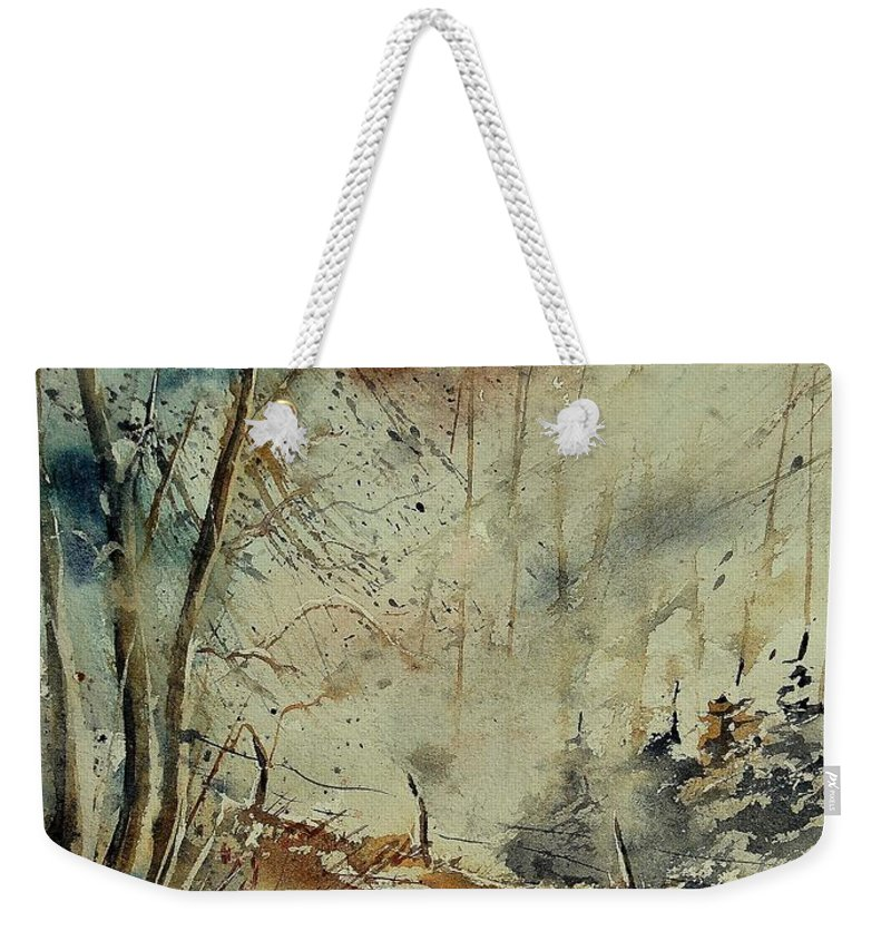River Weekender Tote Bag featuring the painting Watercolor 902190 by Pol Ledent