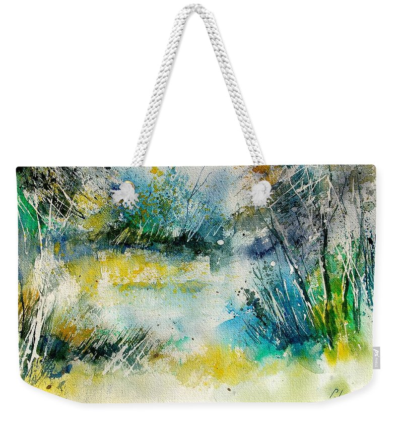 Water Weekender Tote Bag featuring the painting Watercolor 906020 by Pol Ledent