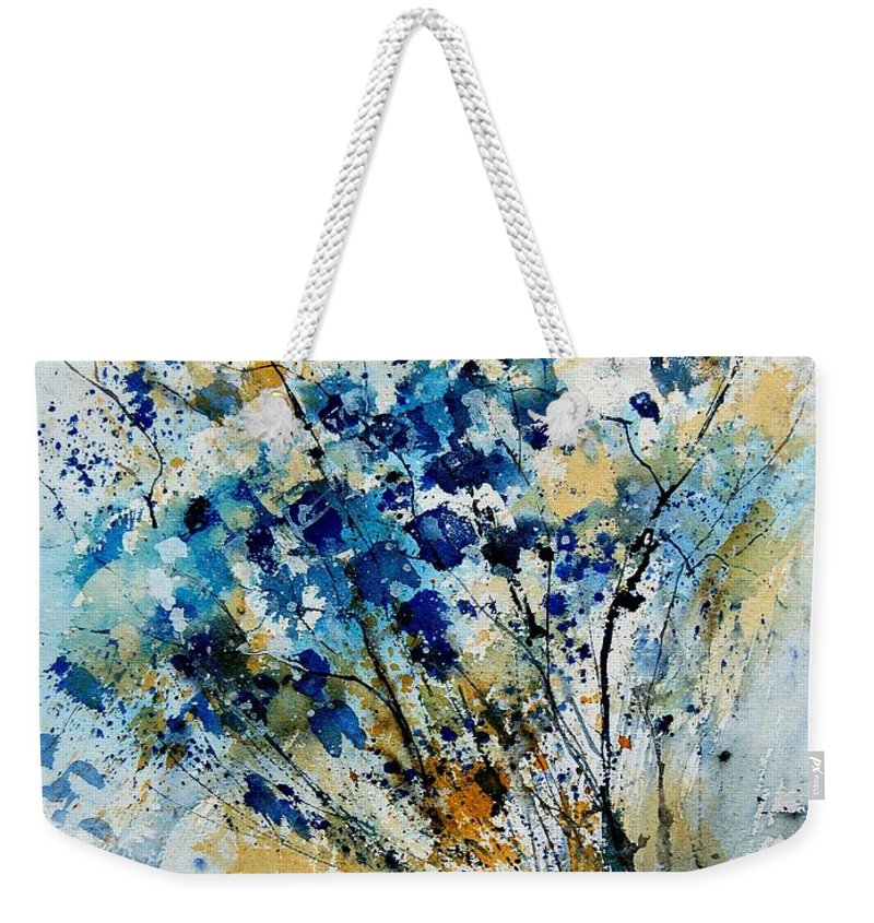 Flowers Weekender Tote Bag featuring the painting Watercolor 907003 by Pol Ledent