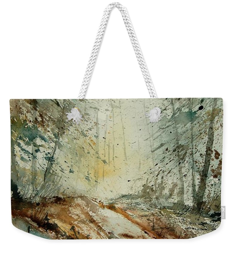 River Weekender Tote Bag featuring the painting Watercolor 907013 by Pol Ledent