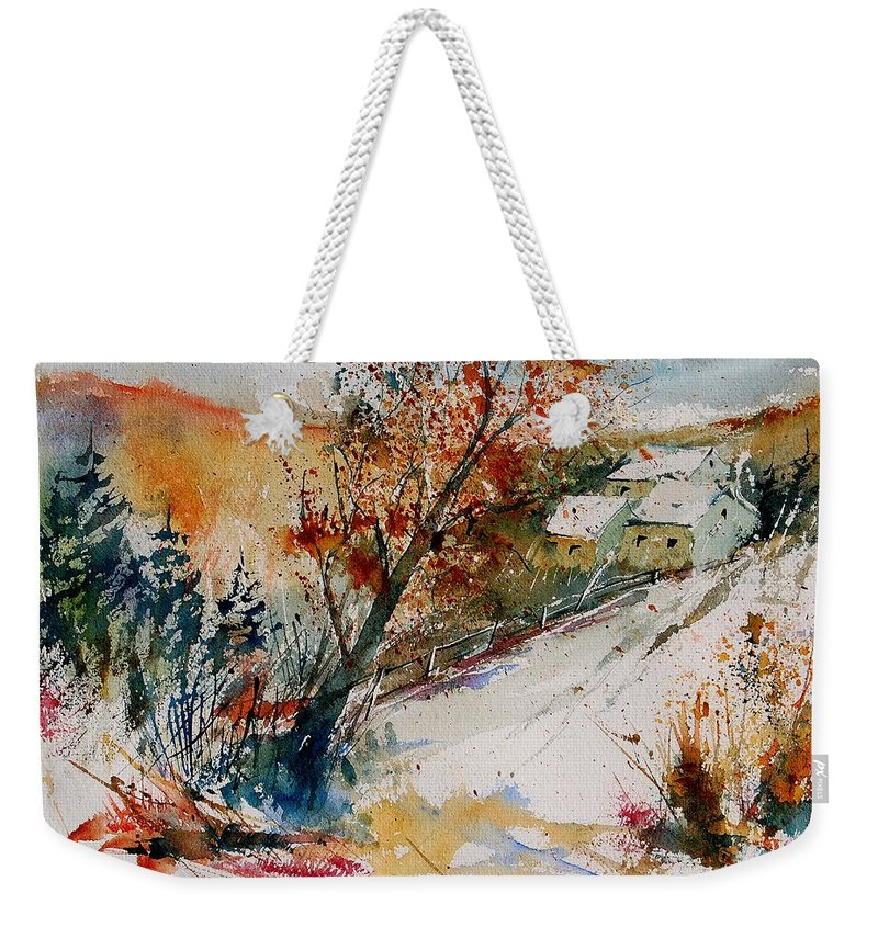 Tree Weekender Tote Bag featuring the painting Watercolor 908002 by Pol Ledent