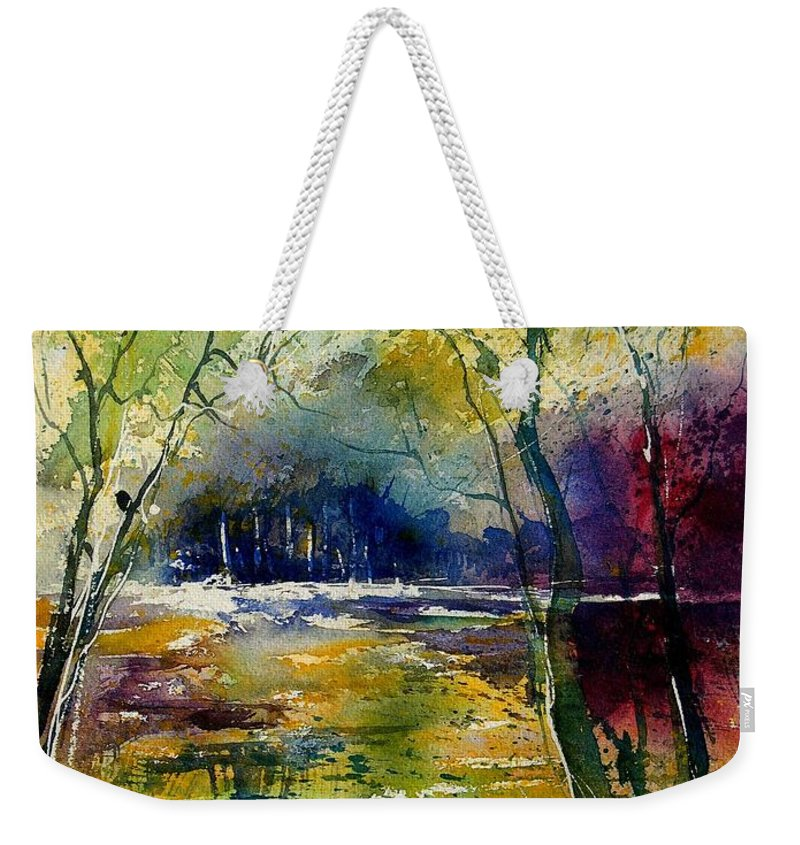 River Weekender Tote Bag featuring the painting Watercolor 908010 by Pol Ledent