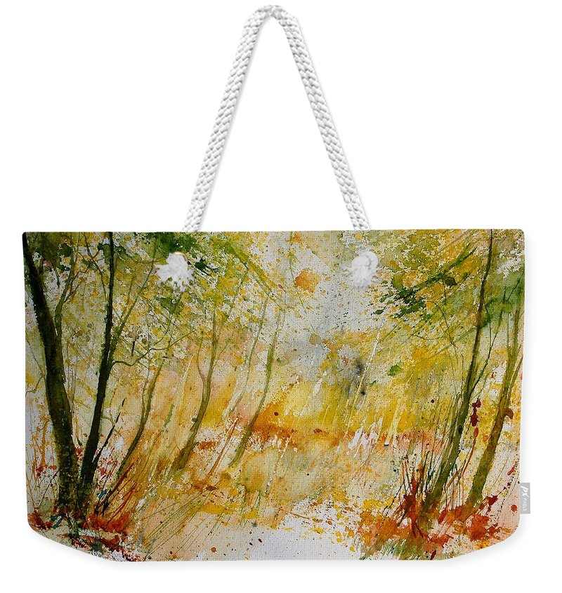 Tree Weekender Tote Bag featuring the painting Watercolor 908012 by Pol Ledent