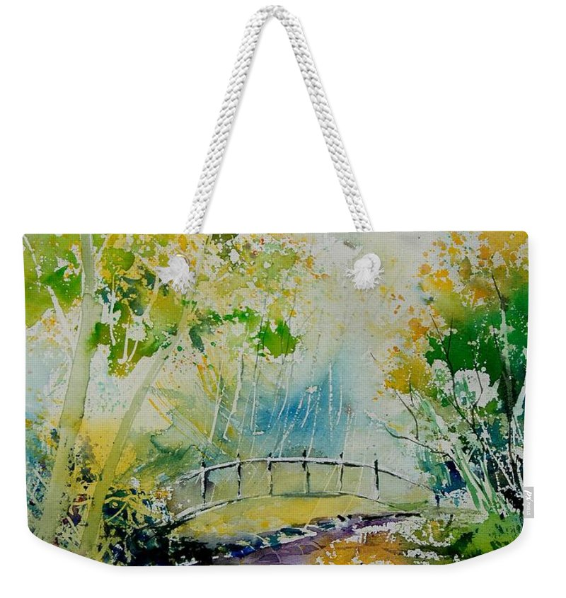 Water Weekender Tote Bag featuring the painting Watercolor 908020 by Pol Ledent