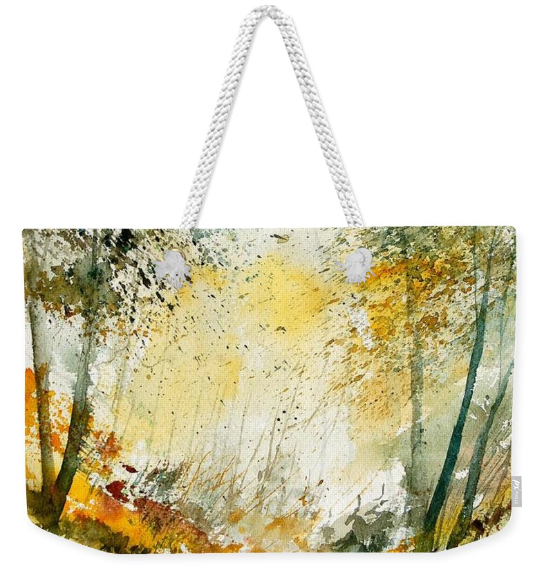 Tree Weekender Tote Bag featuring the painting Watercolor 908021 by Pol Ledent
