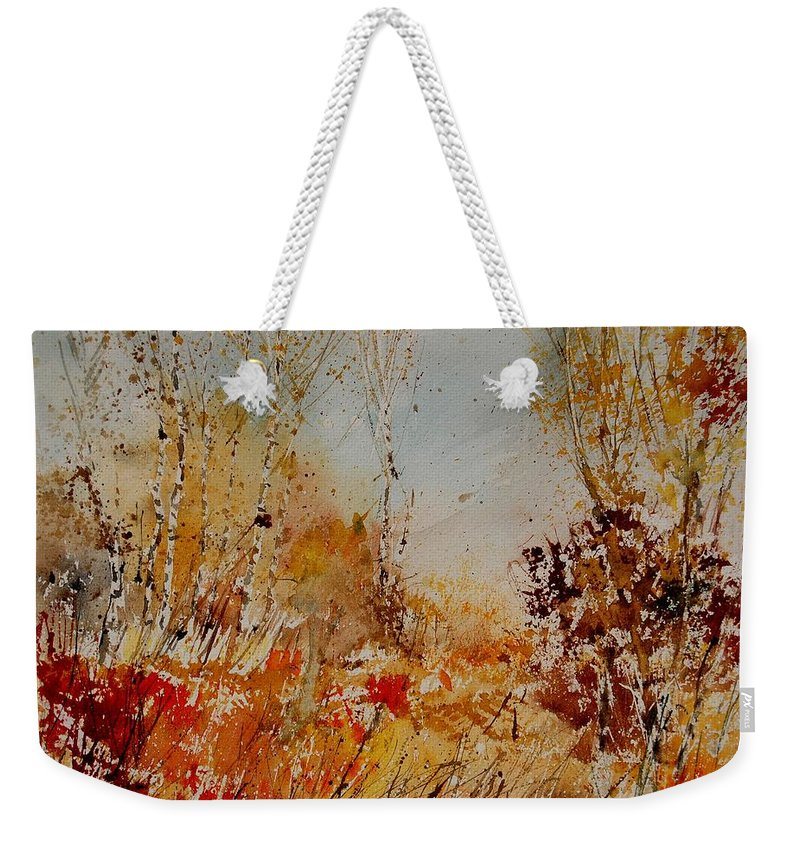 Tree Weekender Tote Bag featuring the painting Watercolor 908031 by Pol Ledent