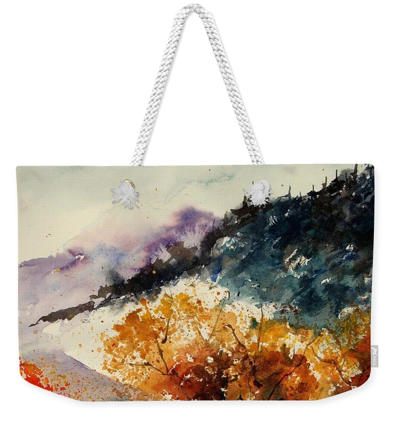 Tree Weekender Tote Bag featuring the painting Watercolor 908041 by Pol Ledent