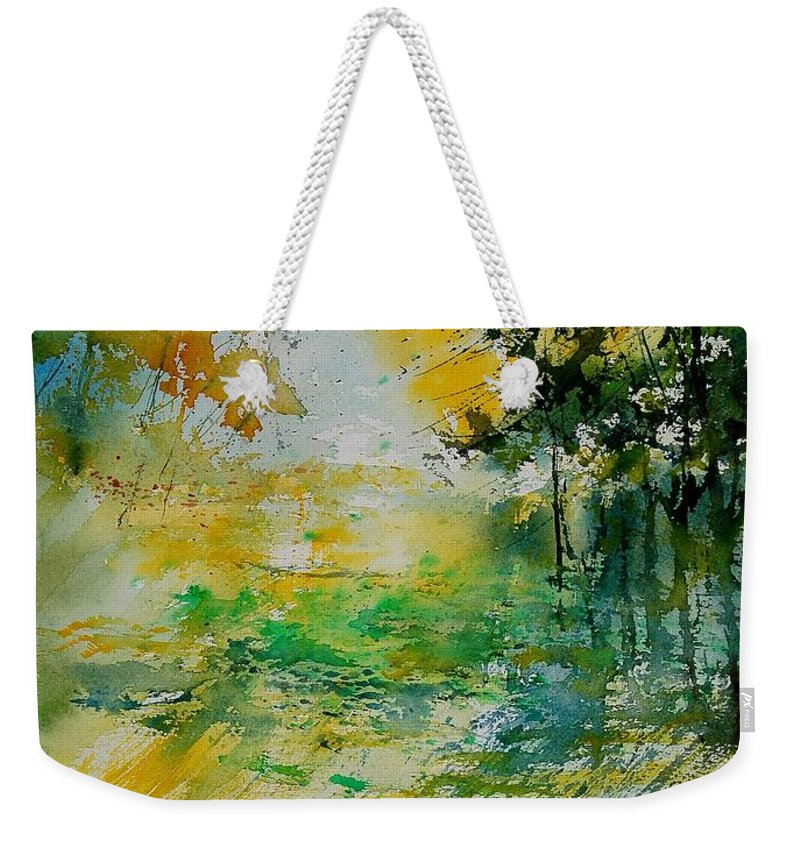 Water Weekender Tote Bag featuring the painting Watercolor 908051 by Pol Ledent