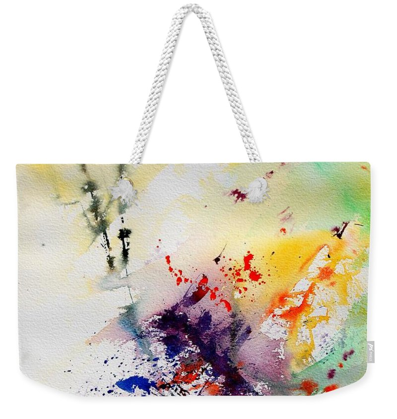 Abstract Weekender Tote Bag featuring the painting Watercolor 908090 by Pol Ledent