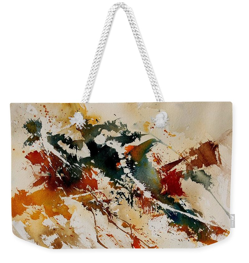Abstract Weekender Tote Bag featuring the painting Watercolor 90861 by Pol Ledent