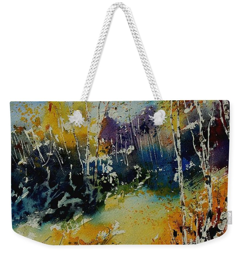 Tree Weekender Tote Bag featuring the painting Watercolor 909052 by Pol Ledent