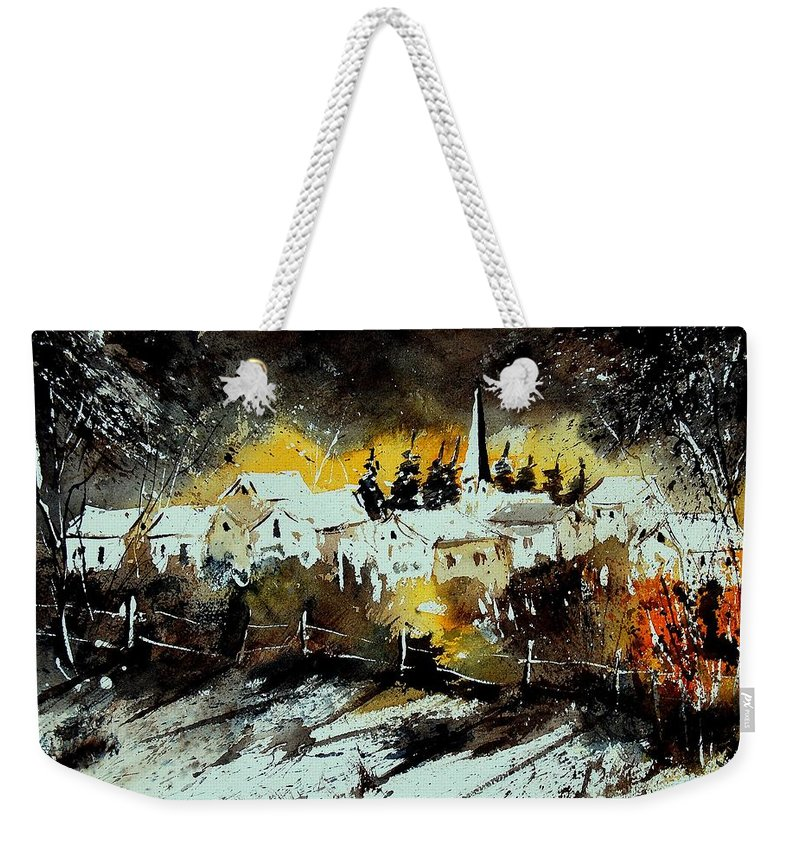 River Weekender Tote Bag featuring the painting Watercolor 909072 by Pol Ledent