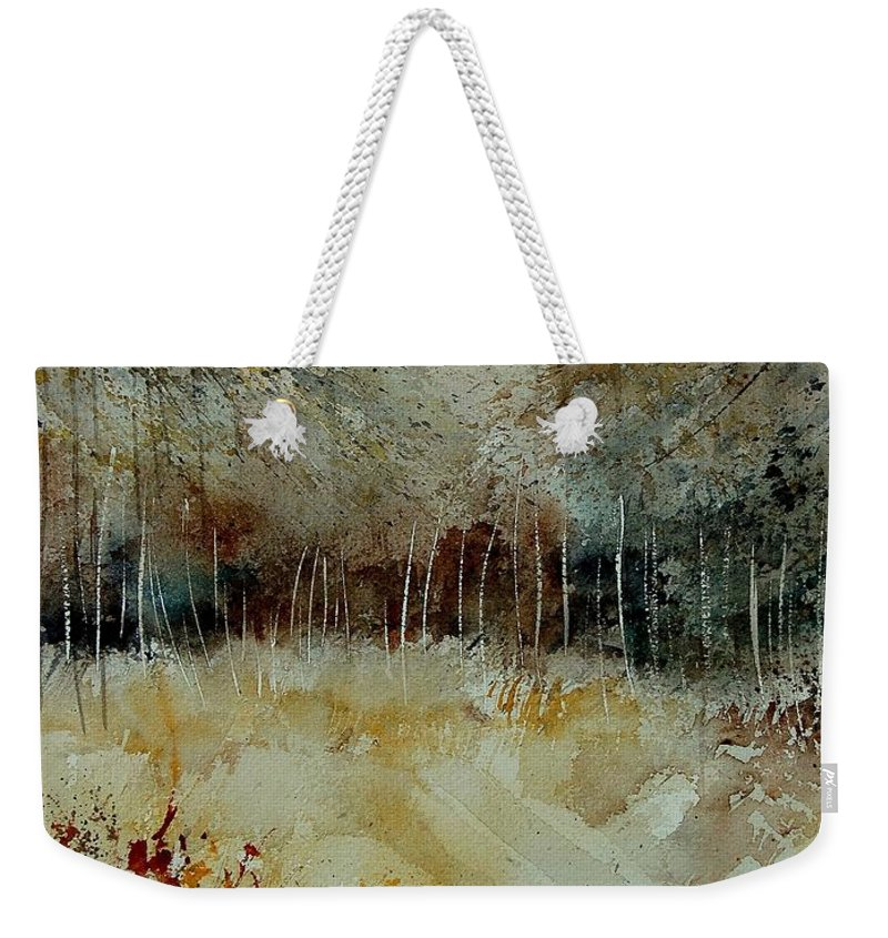 Tree Weekender Tote Bag featuring the painting Watercolor 9090722 by Pol Ledent