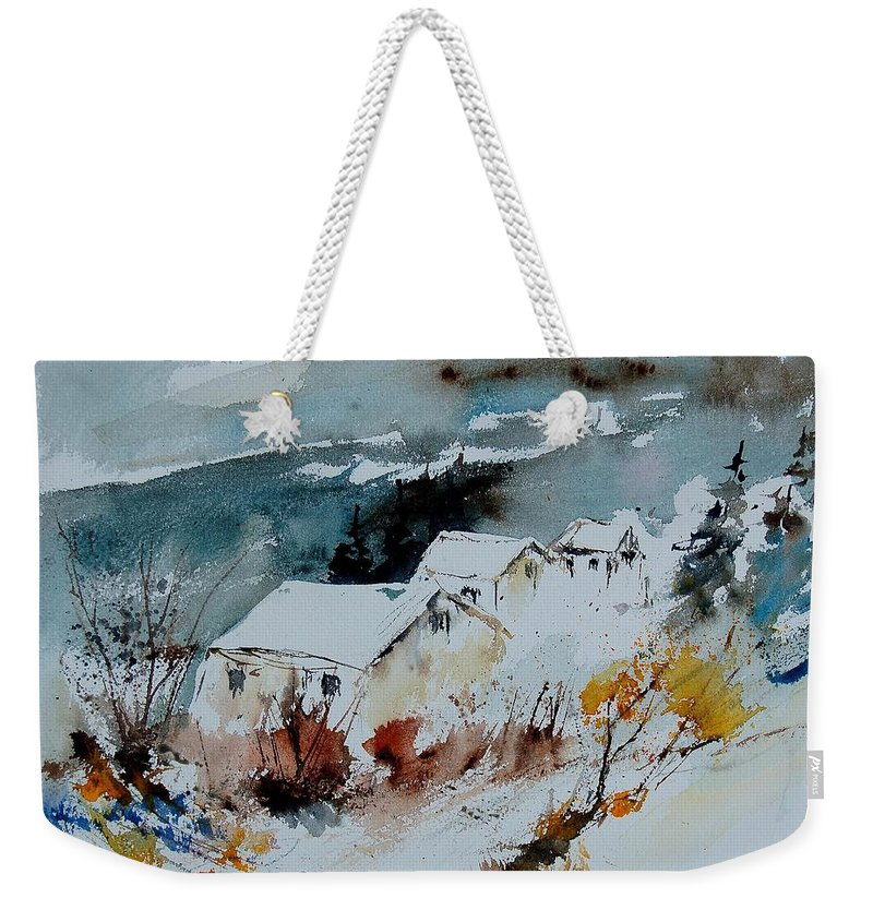 Winter Weekender Tote Bag featuring the painting Watercolor 9090723 by Pol Ledent