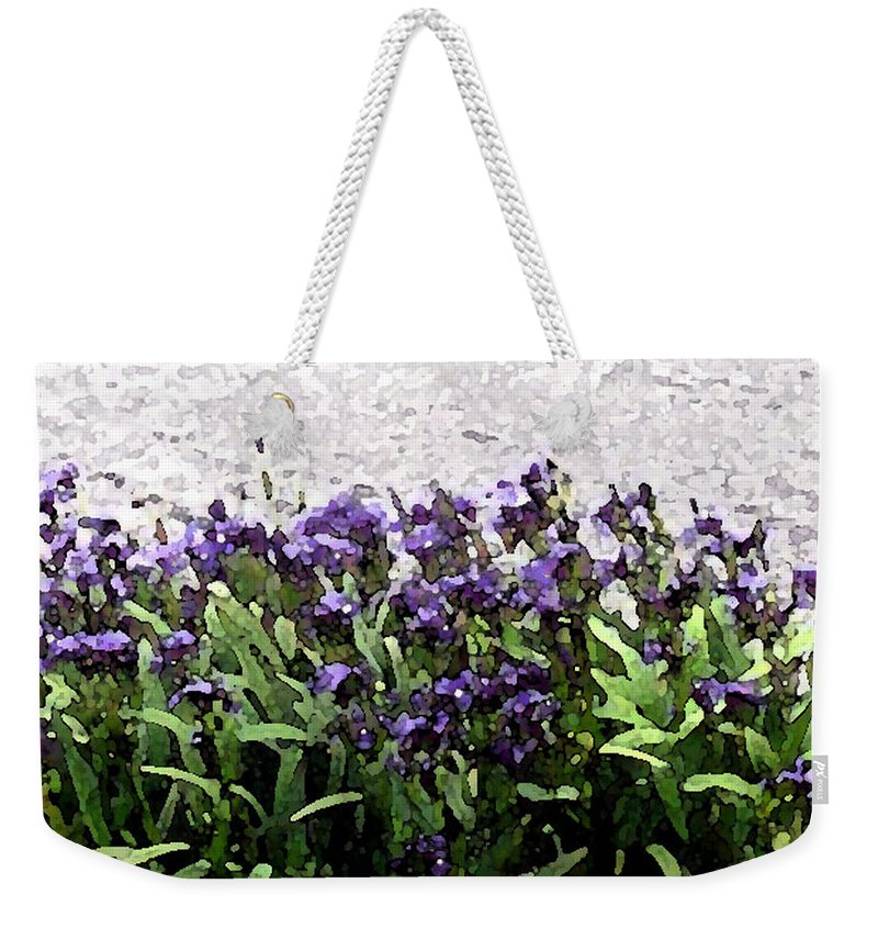 Abstract Art Weekender Tote Bag featuring the photograph Watercolor Iris by Barbara Griffin