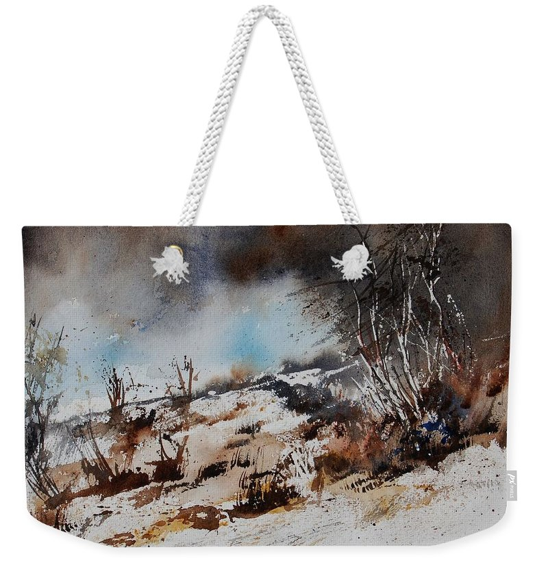 River Weekender Tote Bag featuring the painting Watercolor Jjook by Pol Ledent
