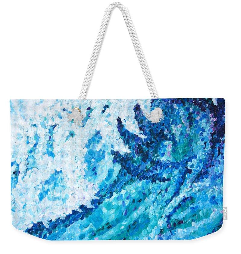 Ocean Weekender Tote Bag featuring the painting Watercolor by JoAnn DePolo
