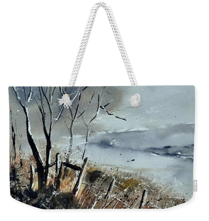 Landscape Weekender Tote Bag featuring the painting Watercolor by Pol Ledent