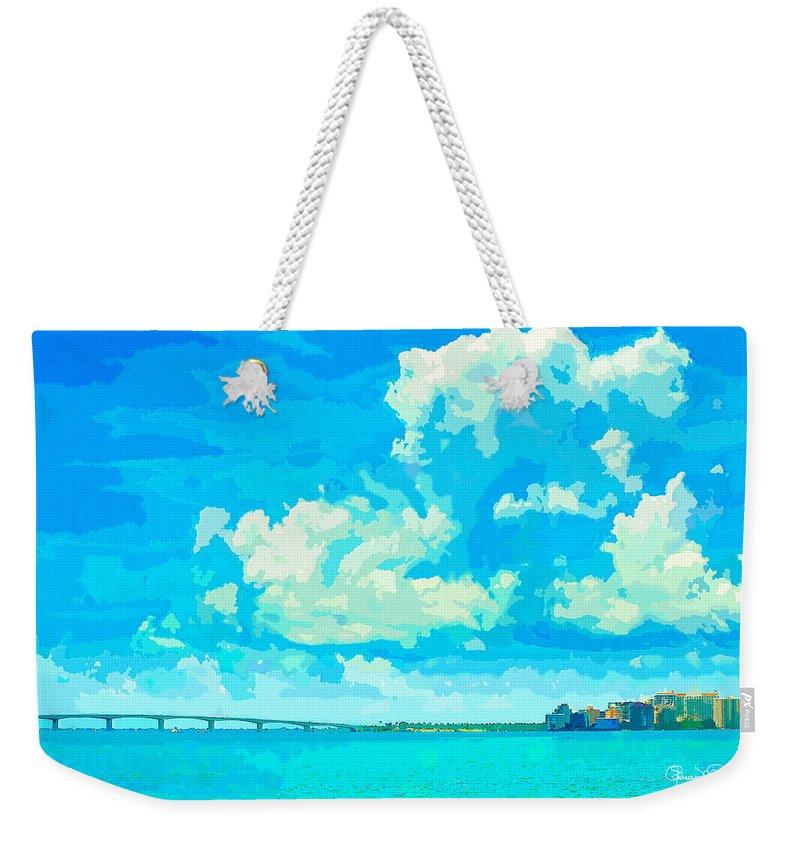 susan Molnar Weekender Tote Bag featuring the photograph Watercolor Spring On Sarasota Bay by Susan Molnar