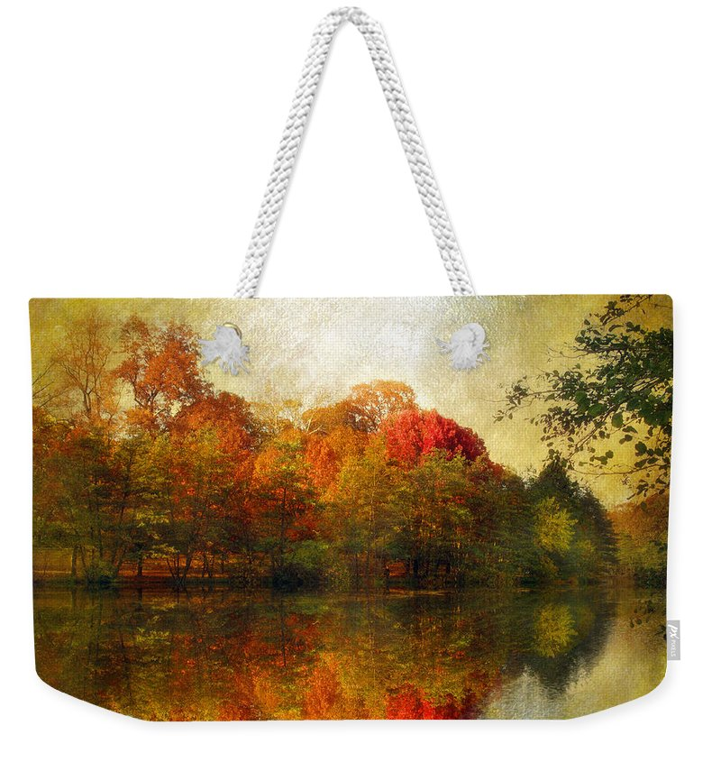 Autumn Weekender Tote Bag featuring the photograph Watercolor Sunset by Jessica Jenney