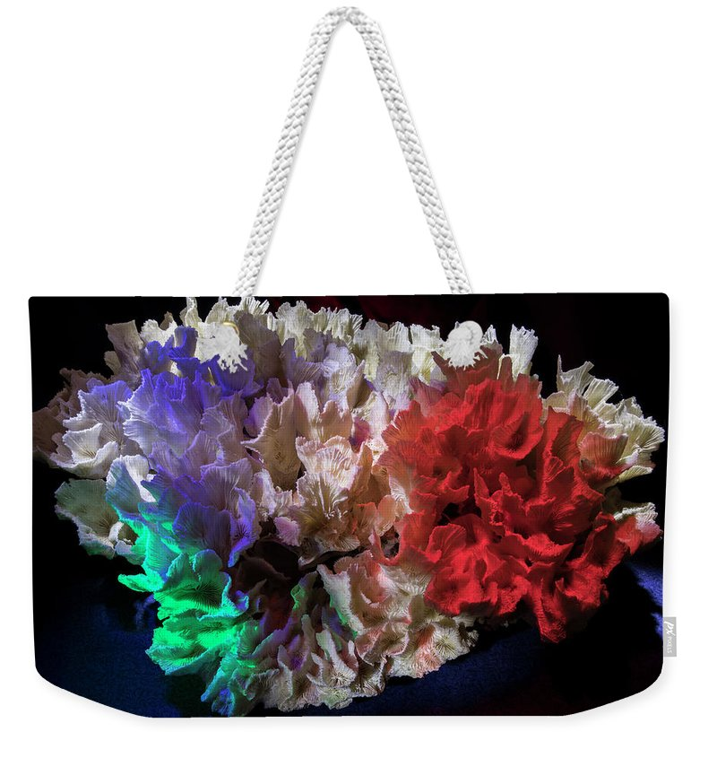 Coral Weekender Tote Bag featuring the photograph Watercolors by Daniel Alcocer