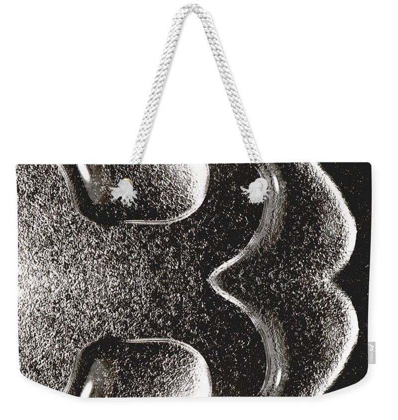 Water Weekender Tote Bag featuring the photograph Waterdrop 1 by Nancy Mueller