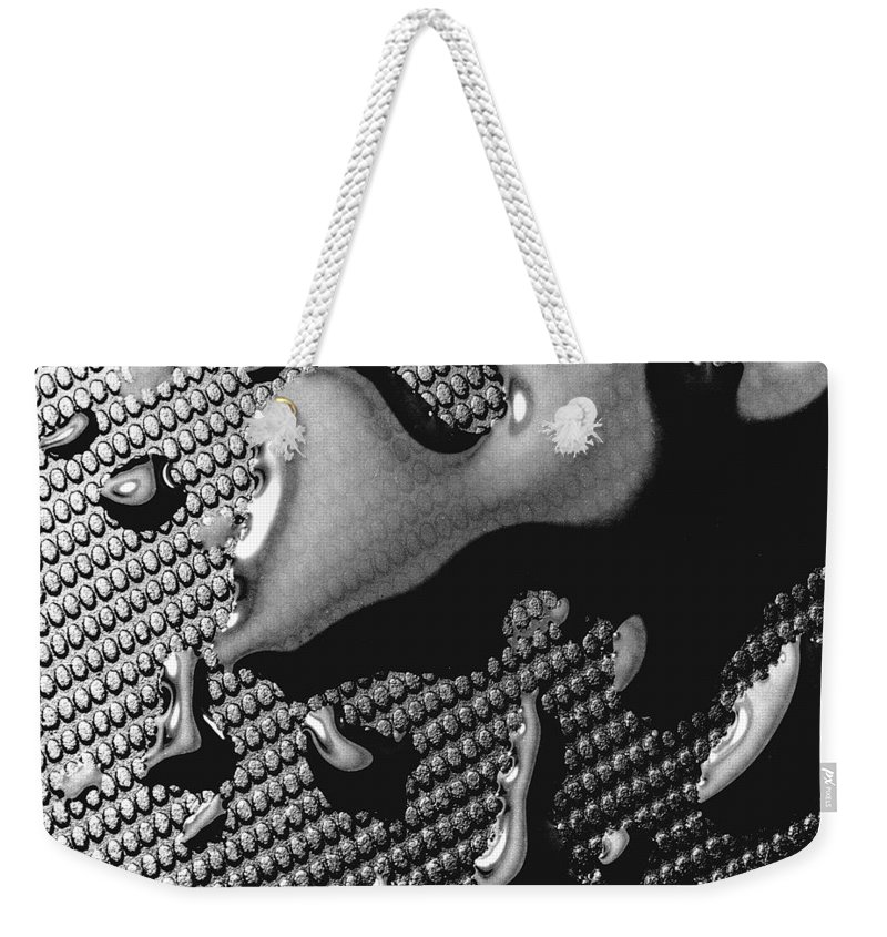 Water Drop Weekender Tote Bag featuring the photograph Waterdrop 5 by Nancy Mueller