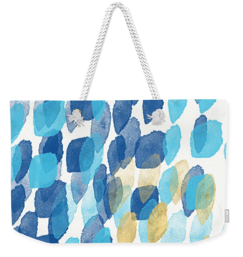 Water Weekender Tote Bag featuring the painting Waterfall- Abstract Art By Linda Woods by Linda Woods