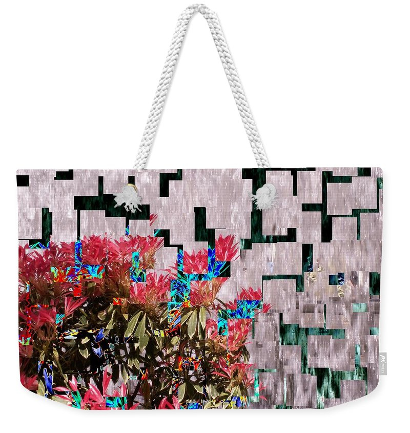 Waterfall Weekender Tote Bag featuring the photograph Waterfall Flowers 2 by Tim Allen