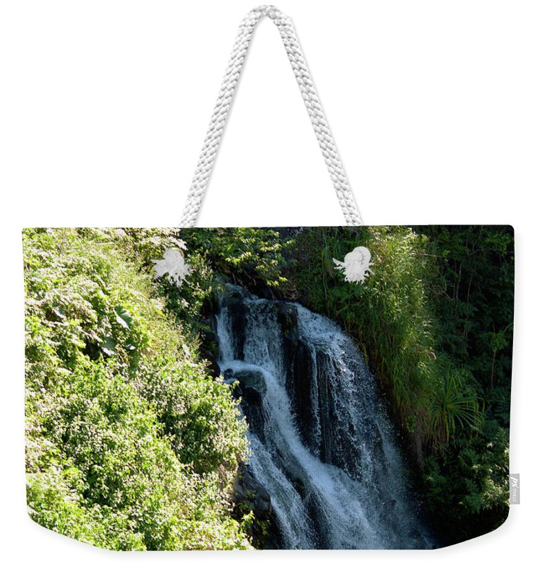 Fine Art Photography Weekender Tote Bag featuring the photograph Waterfall I by Patricia Griffin Brett