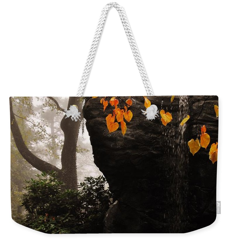 Rock City Weekender Tote Bag featuring the photograph Waterfall by Lori Mahaffey