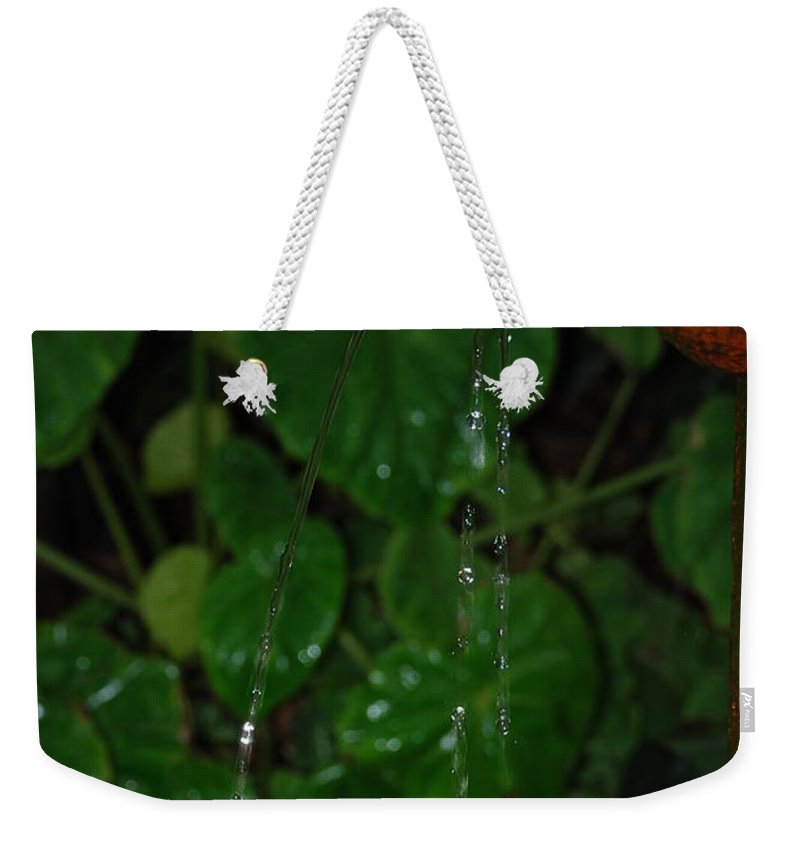 Macro Weekender Tote Bag featuring the photograph Waterfall by Rob Hans