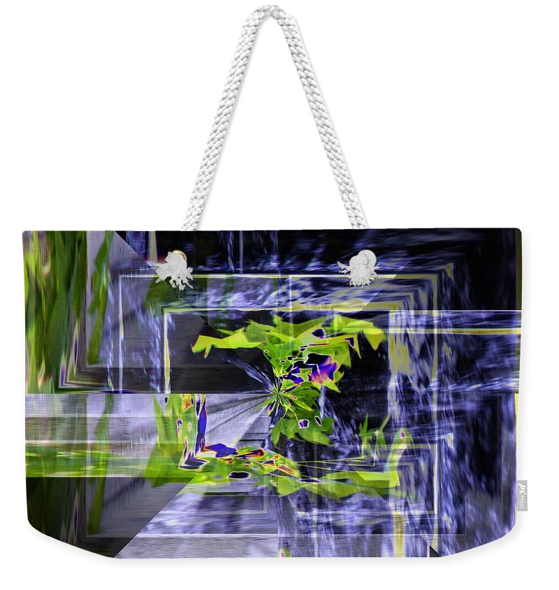 Seattle Weekender Tote Bag featuring the photograph Waterfall Vortex by Tim Allen