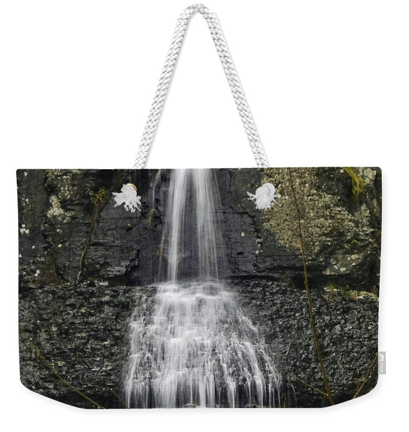 Waterfall Weekender Tote Bag featuring the photograph Waterfall01 by Svetlana Sewell