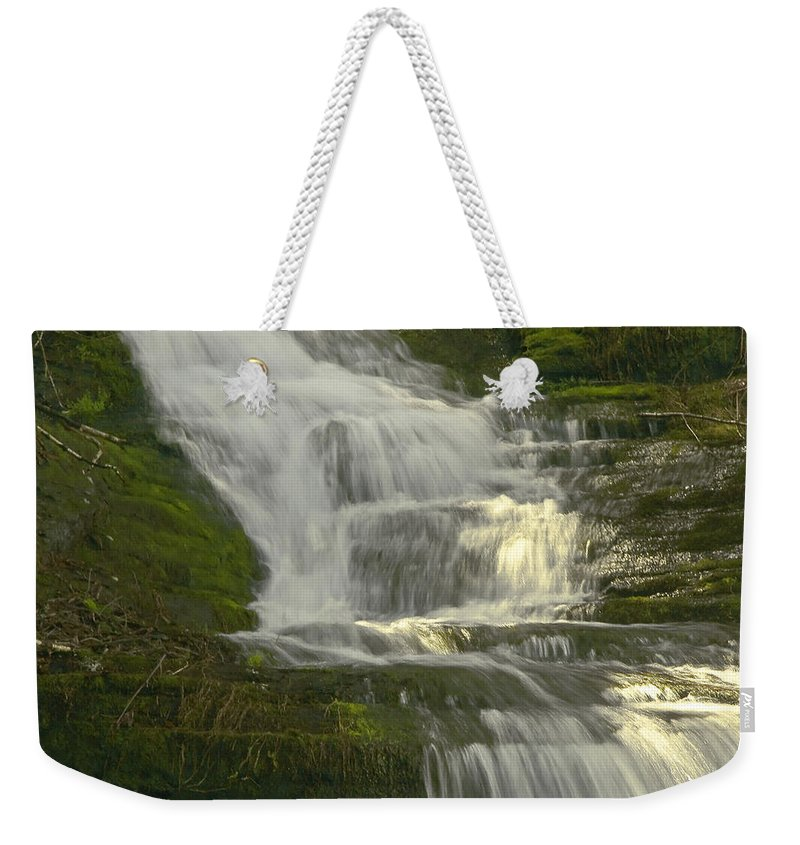 Waterfall Weekender Tote Bag featuring the photograph Waterfall02 by Svetlana Sewell