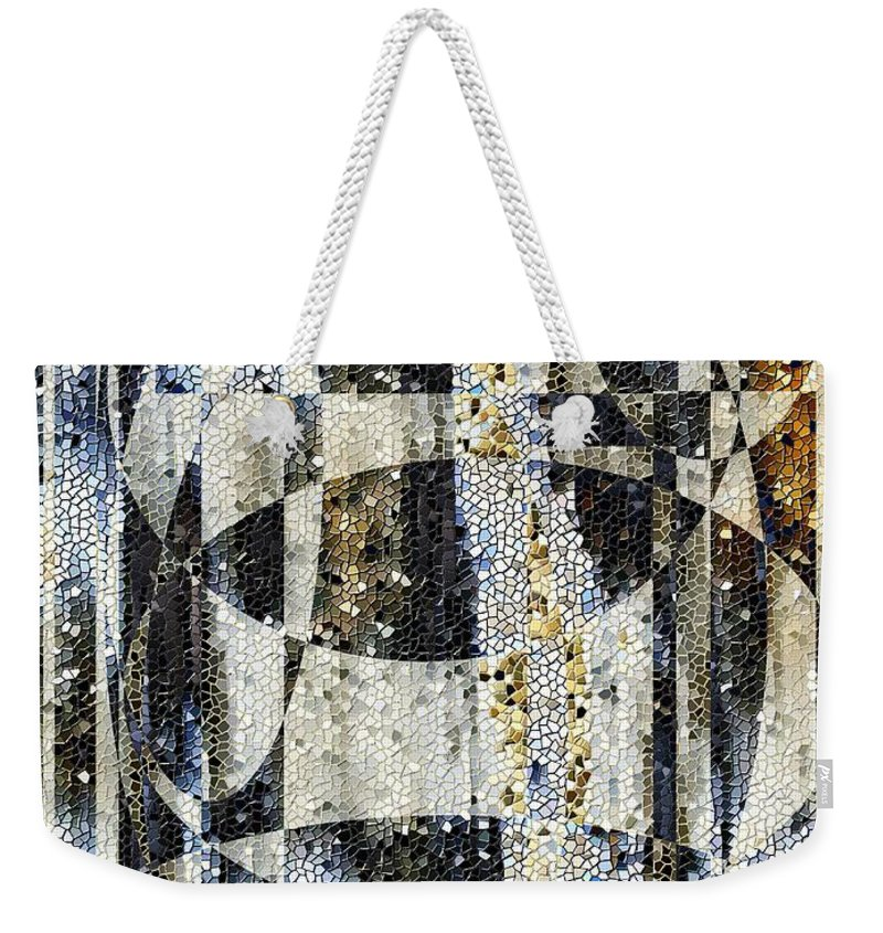 Mosaic Weekender Tote Bag featuring the photograph Waterfalling by Tim Allen