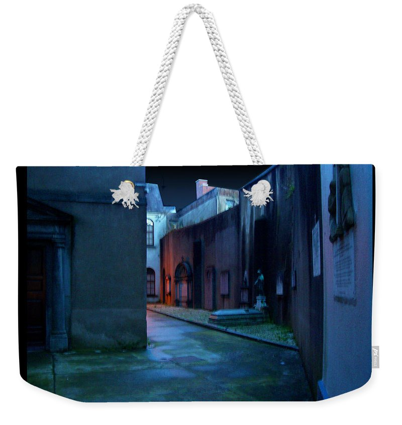 Waterford Weekender Tote Bag featuring the photograph Waterford Alley by Tim Nyberg