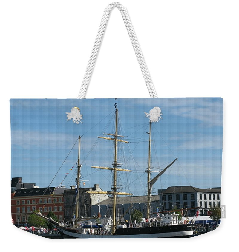 Tall Ship Weekender Tote Bag featuring the photograph Waterford Harbour July 2011 by Maria Joy